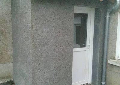 Extension de porte entrée enduit gris